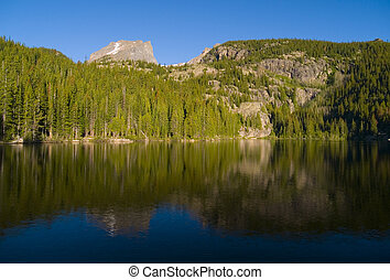 Bear Lake Reflection - A summer morning at Bear Lake - Rocky...