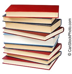 Books - Education - books stack isolated on white background