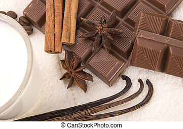 chocolate spa - sensuality spa chocolate, milk and spices -...