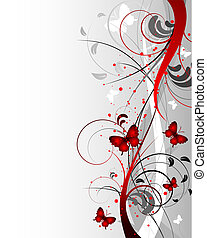 Floral sidebar - Abstract background Suits well as a...