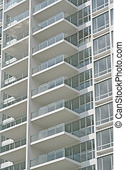 Clean and new balconies - Clean and empty balconies of a new...