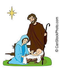 Nativity - The Nativity Illustration with Clipping Path