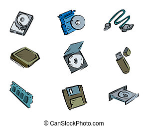 Computer Icons with Clipping Path