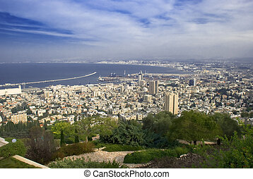 Haifa city from Israel - Panorama of haifa city from Israel
