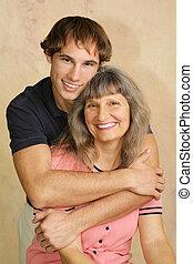 Loving Mom & Son Vertical