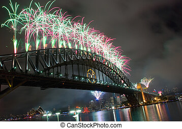 Sydney Harbour Bridge New Year - Sparkling New Year Eve nye...