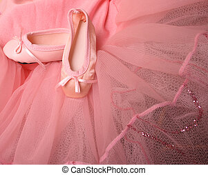 Ballet Pumps - Pink Ballet costume and miniature shoes with...