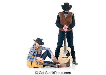 Country and Western singers - Handsome young male and female...