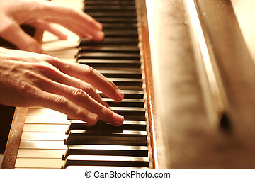 piano Hand - Playing the Piano