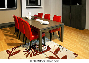Dinning room - Ordinary dinning room with table and chairs