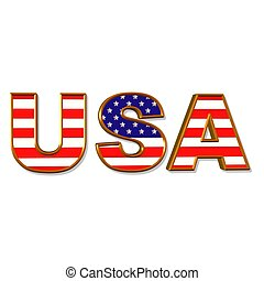USA acronym - illustration of the acronym USA