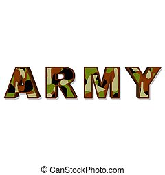 army - an illustration of the word army