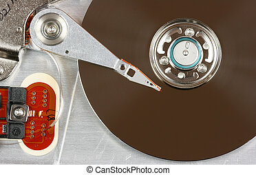 Data storage technology - Inside of a hard disk - modern...