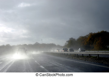 Hazardous driving in wet - Driving in hazardous wet...