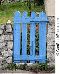 the blue gate - blue gate of a gardenin a provence...
