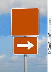 blank street sign - photographed street sign eliminating...
