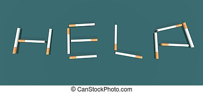 help - a 3d renders of cigarettes to illustrate tobacco...