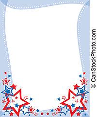 Red, White and Blue Star - A Red, White and Blue Star Frame...