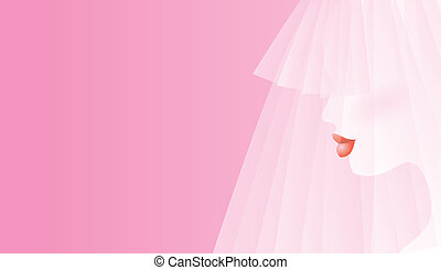 Bridal Profile - Pretty in pink - a profile of a blushing...