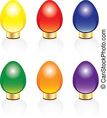 Christmas lights - Six bright and colorful Christmas lights