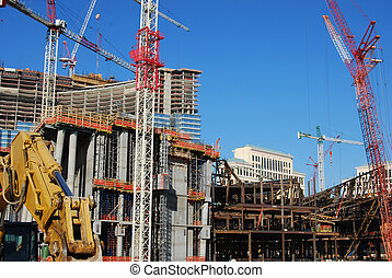 Constuction site 1 - overview of construction iste with...
