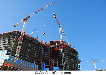 Construction site 4 - overview of construction site with...