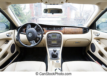 interior of exclusive car - interior of exclusive limousine...