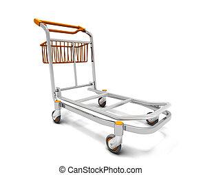 Luggage trolley - 3D render of a luggage trolley