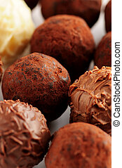 Chocolate truffles - Several assorted gourmet chocolate...