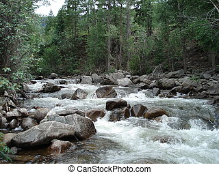 Rushing River - A river in the Rocky Mountains