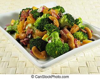 Plate of Broccoli Sa - Broccoli salad with bacon, raisins,...