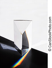 Prism illustrating reflection and refraction
