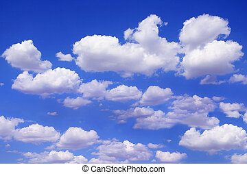 bonito, azul, céu