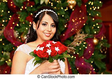 Christmas Bride - Beautiful Brown Eyed Latino Bride at...