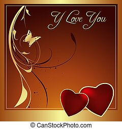 I Love You - The Valentines Day -  background illustration