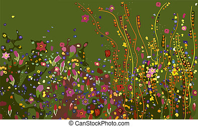 Klimt, Flowers - Klimt flower pattern
