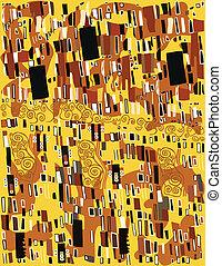 Klimt, Abstract - Klimt, abstract pattern