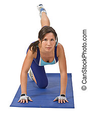 Woman doing aerobics - Image of a young woman doing...