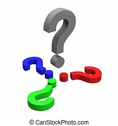 Question Concept FAQ Frequent asked questions isolated on...