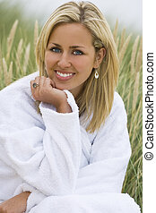Pure, Natural Beauty - A beautiful blond haired blue eyed...