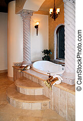 luxury bath - beautiful luxury bath with sunken bathtub...
