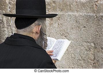 western wall - The prays in western wall in Jerusalem