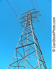 Power - A tower, part of a transmission line through...