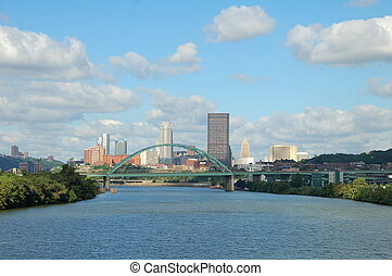 City of Three Rivers - A view from the Hot Metal Bridge...