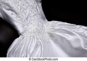 Wedding Dress - appliquéd wedding dress with pearls and...