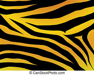 tiger design - Vector black and orange stripped tiger design