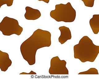 Cow design in brown - Vector brown and white spotted cow...