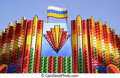 Colorful lights - Set of colorful lights in a stand in the...