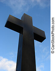 Cross - A large cross with blue sky background