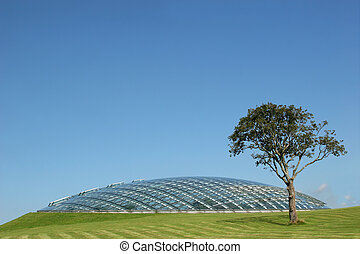 Futuristic Conservatory - Futuristic conservatory dome made...